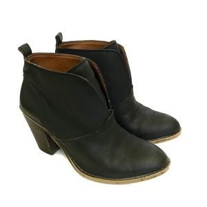 LUCKY BRAND EHLLEN Black Leather BOOTIES